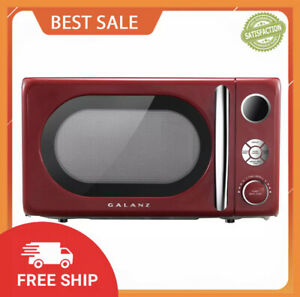 Galanz 0.7 Cu. ft. Retro Countertop Microwave Oven, 700 Watts, Red