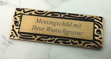 MESSINGSCHILD Türschild - rechteckig 110x40mm - mit Ihrer WUNSCHGRAVUR