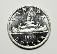 Canada 1956 Silver $1.00 One Dollar Coin