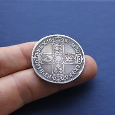 More details for milled silver coin james 2nd half crown 1686 ad