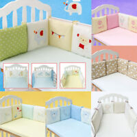Baby Nursery Bedding Set Crib Cot Bumper Toddler Bed Comfy Protector Cushion Pad