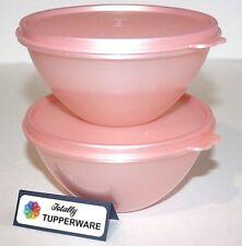 Tupperware Bowls Set Wonderlier 2 Cups Pink Blush Sparkle Starlight Celebration