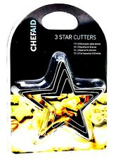 Chef Aid  Star Cutters, Pack of 3