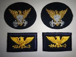 Paire De USCG Capitaine Rang Correctifs Et 2 États-Unis Coast Guard Command Id