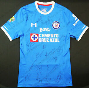 2017 CRUZ AZUL team signed Under Armour mexico game used jersey #5 F. SILVA