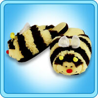Pillow Pets Authentic Bumble Bee Slippers  Toy Gift - check size chart