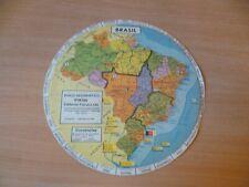 (B52) DISQUE GEOPOLITIQUE BRESIL ET AMERIQUE DES ANNEES 70 EN PORTUGAIS D= 27 CM