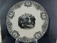 ANTICO RARO PIATTO BOCH FRERES NAPOLEONE BONAPARTE DEVANT MADRID 1808