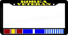 KOREA VETERAN service ribbon korean war veteran License Plate Frame
