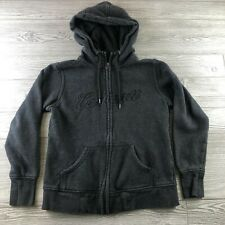 Carhartt Youth Medium Full Zip Hoodie w/ Pockets Gray Cotton Blend Logo