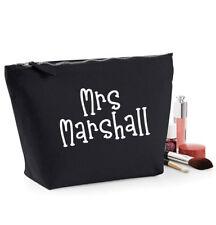 Personalised Teacher MakeUp Bag, 19x18cm, Black or Beige, Teacher Gift