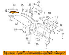 MERCEDES OEM 05-06 SLK55 AMG Top Well-Rear Cover Extension Right 1717901235