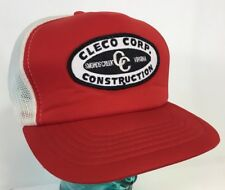Vintage Celco Corp Construction Work 80s Patch Trucker Snapback Hat Virginia B13