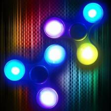 2 Pack: LED Light-Up Flashing Fidget Hand Tri-Spinner Manipulative Play Toy