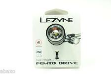 Lezyne Femto Drive White LED Headlight 15 Lumen Black Bike Front