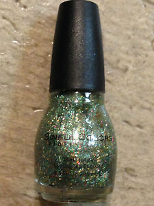 NEW SINFUL COLORS ALMOST FAMOUS COLLECTION BOMBSHELL GREEN GOLD RED SILVER HEX