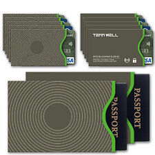 Secure Sleeve RFID Blocking Sleeves Credit Card Debit Card ID Passport Protector