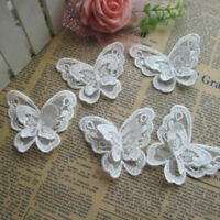 1x 3D Butterfly Embroidered Patch Set Sew on Embroidery Applique Dress