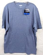 Kirkland Signature Men's Tee Cotton Classic Fit Crew Neck Blue Size Large New