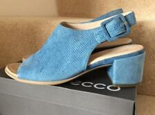 ECCO...BLUE SUEDE 'SHAPE 35' BLOCK HEEL SANDALS..UK 7.5..EU 41..MINT CONDITION