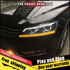 For VW Passat Headlights assembly Bi-Xenon Lens Double Beam HID KIT 2012-2015