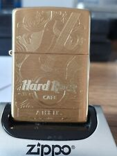 HARD ROCK ATHENS SOLID BRASS ZIPPO (204B) BRAND NEW IN GIFT/PRESENTATION BOX.