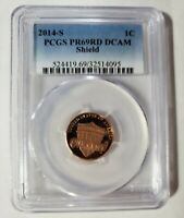 2014 S Proof Lincoln Shield Cent PCGS PR 69 RD DCAM Superb Gem Proof