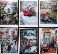 LOT 16 postcards Fairy-tale ART Susan Wheeler-1 Holly Pond Hill postcard modern