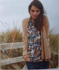 Nuevo Boden Women's/mujer como Cardigan-Beige/Luz Marrón-UK Size 14