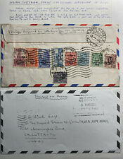 1954 Indian Custodian Forces In Korea Airmail Cover To Calcutta India