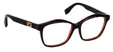 Fendi Eyeglasses FF 0093 D5T Frame Authentic New 54mm Gray Spotted Havana New