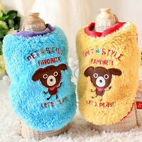 Winter Pet Dog Clothes Warm Puppy Cat Thicken Vest T Shirt Pet Clothing Apparel