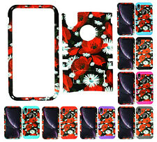 For Apple iPhone XR - KoolKase Armor Hybrid Slicone Cover Case - Red Flower 07