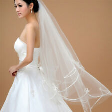 150cm White Simple Two Layer Tulle Wedding Veils Bridal Veil Accessories_*