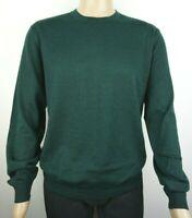 Men`s CHRISTIAN BERG Jumper Crew Neck Wool Blend Size 2XL Green Pullover Sweater