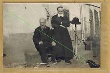 Carte Photo vintage card RPPC types creusois Creuse homme femme pz066
