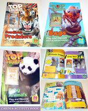 Top Trumps Juego & descubrir actividad libro y 20 cartas depredadores Bebé Animales Insectos