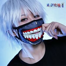 Cool Tokyo Ghoul Zipper Mask Cycle Anti-Dust Face Mask Anime Cotton Cartoon