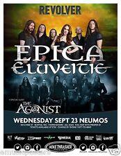 EPICA / ELUVEITIE 2015 SEATTLE CONCERT TOUR POSTER - Symphonic Folk Metal Music