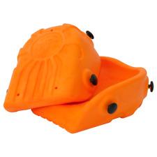 Knieschoner, Schalenform, orange Knieschutz Paar mit Ergo Fix, DIN EN 14404