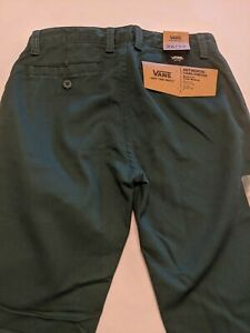 Vans New Authentic Chino Stretch Pants Youth Boys Size 26/12