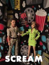 Scream Dewey & Gale Weathers Custom Horror Dolls Ooak