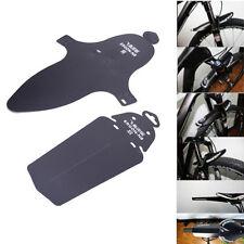 1set Ultralight Bike Cycling Bicycle MTB Black Sports Fender Front Rear Mudguard