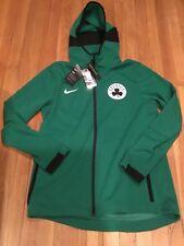 Nike Mens Boston Celtics On-Court Dri-FIT Showtime Full-Zip Hoodie Size Large