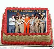 Orange is the new Black Cake topper edible image icing REAL FONDANT