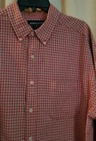 Abercrombie & Fitch Mens Outdoor Button Up Shirt Long Sleeve Medium Check Red