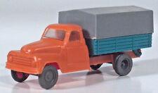 "Vintage Hanomag Flatbed Canvas Top Truck 3.25"" HO 1/87 Scale Model West Germany"