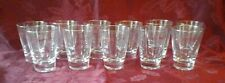 LOT OF 11 GOLD RIMMED 5 OUNCE BAR GLASSES VERY NICE!