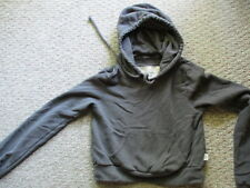 ABERCROMBIE & FITCH Cropped Hoodie Juniors Girls Women's Gray Size XS