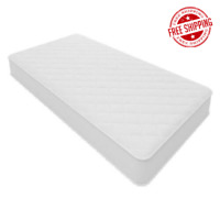 "Twin Size 6"" Bed Mattress Coil Springs Quilted Cover Bedroom Mattress Comfort"